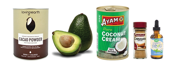 Chocolate-avocado-mousse-cinnamon-cocoa-powder-Organic-Stevia-hypoxi-meal-blog-weighloss-fatburn