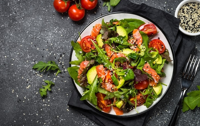 salmon-salad-with-red-wine-vinaigrette